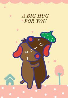 Free Printable A Big Hug For You Greeting Card