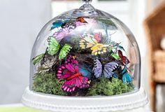 Federleichte Schmetterlings-Deko