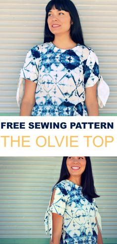 FREE PATTERN ALERT: The Olvie Top | Free Sewing Pa…