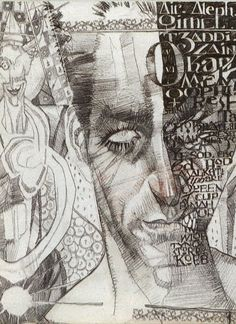 Two-face Harvey Dent from Arkham Asylum by Dave McKean.