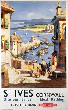 St Ives, British Railways, 1955 | 15 Insanely Affordable Vintage Travel Prints Posters Uk, Train Posters, Railway Posters, Poster Prints, Art Print, Beach Posters, Retro Poster, Poster Vintage, Vintage Travel Posters