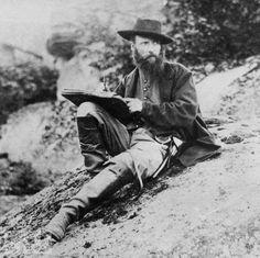 Alfred R. Waud, artist for Harper's Weekly magazine, sketches the Gettysburg battlefield, Pennsylvania, July 1863.
