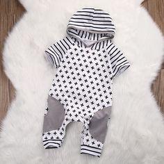 Baby Boy Short Sleeve Romper,Kids Clothing,Children's Clothing Online