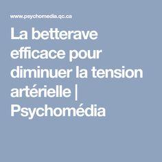 La betterave efficace pour diminuer la tension artérielle | Psychomédia