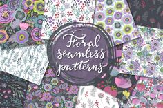 Floral seamless patterns by Fancy art on @creativemarket