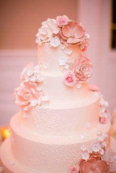 Wedding cake idea; Featured Planner: Jordan Payne Events