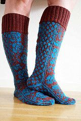 Ravelry: Spring Roses - in Vienna (the socks) pattern by Kamilla