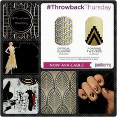Where are my roaring 20s peeps looking forward to 2020?? This week's Throwback Thursday wraps are for YOU!!!  These are called Optical Illusion and Roaring Twenties!!! They are so cute!! Omg!!! I love this company!!!!  Available from today until Monday 11:59 MT OR while supplies last (and these won't last long)!! Grab yours ASAP before they run out!!! Order yours at annamj.jamberry.com!!