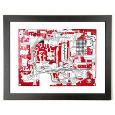 Circuit Artistry Electricity Prints - Overvoltage
