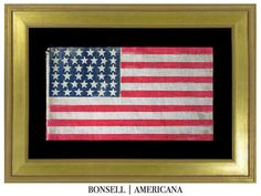 38 Star Antique US Flag with a 6-7-6-6-7-6 Star Pattern