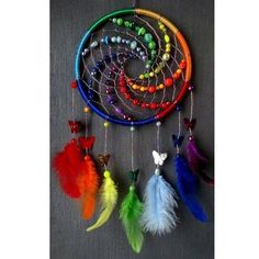 Dreamcatcher, Boho Dreamcatchers, Flower Dreamcatcher, Modern Wall Hanging, Boho… - Famous Last Words Los Dreamcatchers, Moon Dreamcatcher, Dream Catcher Craft, Making Dream Catchers, Dream Catcher Bracelet, Dream Catcher Mobile, Beautiful Dream Catchers, Craft Projects, Projects To Try