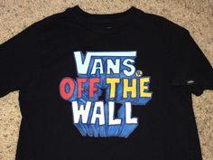 ab75c0d348 Vintage VANS off the wall T shirt boys street wear tee