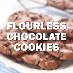 Healthy Desserts Discover Flourless Chocolate Cookies Flourless Chocolate Cookies AKA Chocolate Meringue Cookies - Dark dense and chewy! Chocolate Chip Meringue Cookies, Flourless Chocolate Cookies, Chocolate Desserts, Meringue Cookie Recipe, Flourless Desserts, Cookie Recipes, Dessert Recipes, Dessert Tray, Cheesecake Recipes
