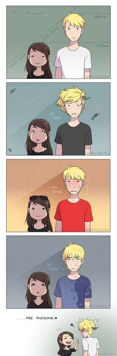 Tall Friends Comic -  by Zombiesmile on deviantART