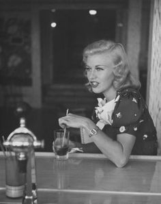 The wonderful Ginger Rogers at a soda shop, 1937.