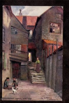 Signed, A Winter Moore. Argument Yard. Whitby. UK Postcard