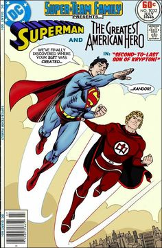 Super-Team Family: The Lost Issues!: Superman and The Greatest American Hero Dc Comic Books, Comic Book Covers, Comic Art, Marvel And Dc Crossover, Dc Comics, Fantasy Team, Superman Comic, Superman Artwork, Superman Family