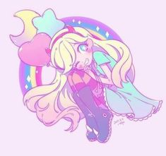 kawaii, magical, and pink image