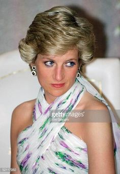 Princess Diana At A State Banquet In Lagos Nigeria