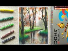 Oil Pastel Drawings, Pencil Drawings, Black And Brown, Red And White, Dark Brows, Woods, Colours, Youtube, Painting