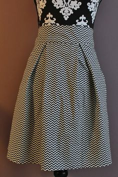 Classic style chevron print skirt! Box pleat skirt with pockets   made to order by HandmadeByLoloZ, $30.00 ***Handmade in KC member
