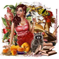 Carmen designs: Housewife with Raccoon