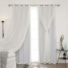 Sheer & Solid Blackout Curtain Panel