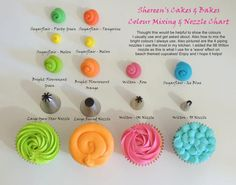 cupcake frosting tips colors and style for frosting your cupcakes Icing Tips, Frosting Tips, Cupcake Frosting, Fondant Cupcakes, Yummy Cupcakes, Frosting Recipes, Cupcake Cookies, Frost Cupcakes, Buttercream Ideas