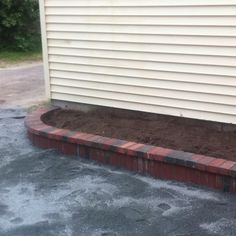 Garage side raised bed