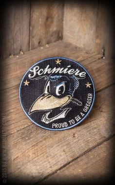 Rumble59 - Aufnäher Schmiere-Proud to be a greaser #schmiere #patch
