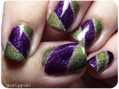 Love purple and green together!