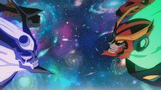 gurren lagann | Tumblr Gurren Lagann Kamina, Gurren Laggan, Fighting Gif, Kid N Teenagers, Space Fantasy, Animation Reference, Anime Cat, Slayer Anime, Character Development