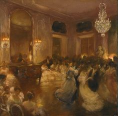 The Ball by Gaston la Touche (French, 1854 - 1913). Gaston la Touche
