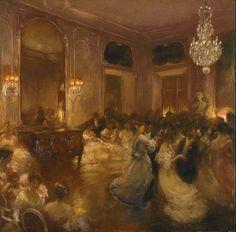 The Ball by Gaston la Touche (French, 1854 - 1913). Gaston la Touche