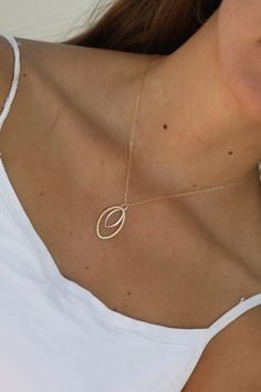 Layered Treasure Two Toned Minimalist Gold Filled Necklace