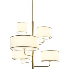 Zanaboni for Borbonese Moving Chandelier (29,125 CNY) ❤ liked on Polyvore featuring home, lighting, ceiling lights, white, white shades, white lamp, white chandelier light, white chandelier and white ceiling lights