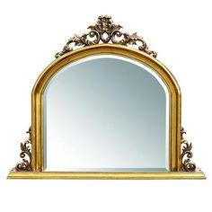Overmantle Mirror, Gold