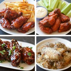 Chicken Wings 4 Ways (via BuzzFeed Food)Chicken Wings 4 Ways | Monchoso.com