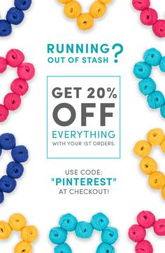 """Are you all knitting comfortably? There is a new offer in town and you are not going to want to miss out! Enjoy 20% off on EVERYTHING with code """"PINTEREST"""". Go, go, go before it is all gone!"""