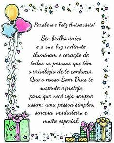 Parabéns e Feliz Aniversário Friend Birthday Gifts, Happy Birthday Greetings, Happy B Day, Insight, Congratulations, Lettering, Humor, Journal, Quotes