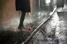 One rainy night... I saw you in front of me...