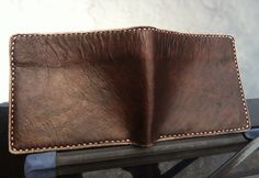 Vegetable Tanned Wallet, hand stitched, handmade...