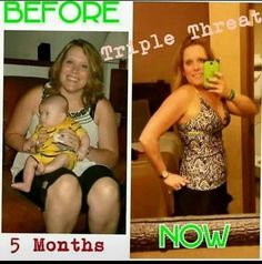 This gal is excited about her results. 5 months using the triple threat. Interested in the challenge? Call or text 520-840-8770 http://bodycontouringwrapsonline.com/weight-loss/it-works-triple-threat-weight-loss-challenge