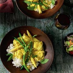 Yellow monkfish curry Monkfish Curry Recipes, Curry Night, Good Food, Food And Drink, Yellow, Ethnic Recipes, Healthy Food, Yummy Food