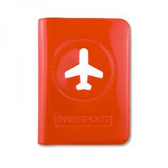 Passhülle Happy Flight rot - ALife Design #red #passport #pvc #aeroplane