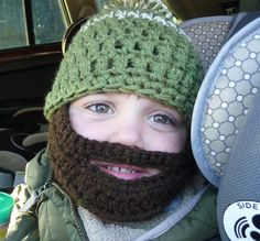 Bearded Hat! So cute - wish I knew how to crochet.....might have to buy this