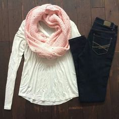 Aeropostale Outfit! So cute! Love the scarf color!