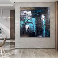 Abstract Canvas Paintings Bedroom Wall Art Palette Knife image 3 Large Painting, Oil Painting On Canvas, Canvas Paintings, Original Paintings, Bathroom Wall Art, Bedroom Wall, Office Wall Art, Office Decor, Colorful Artwork