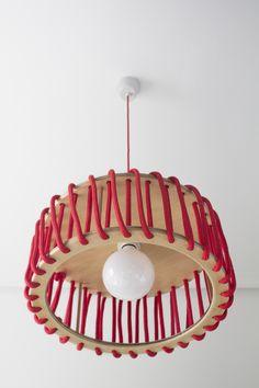 Luminária pendente em corda MACARON by EMKO UAB design Silivia Ceñal