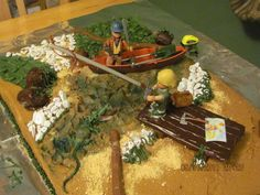 SWAMP PEOPLE CAKE    @Brianna Vaughn & @Rachel Knodel should have got mama to make one like this for erics bday. oh well..